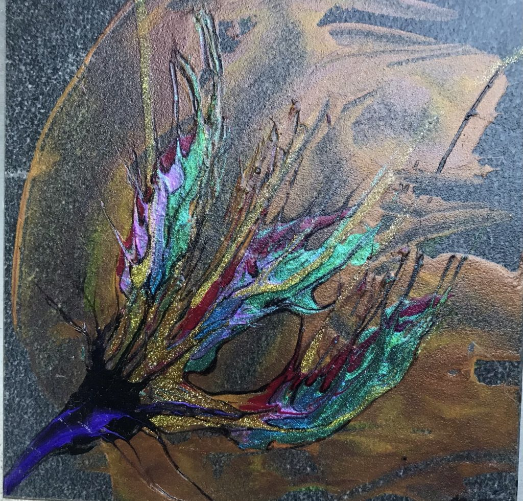 Painting on Stone Tile