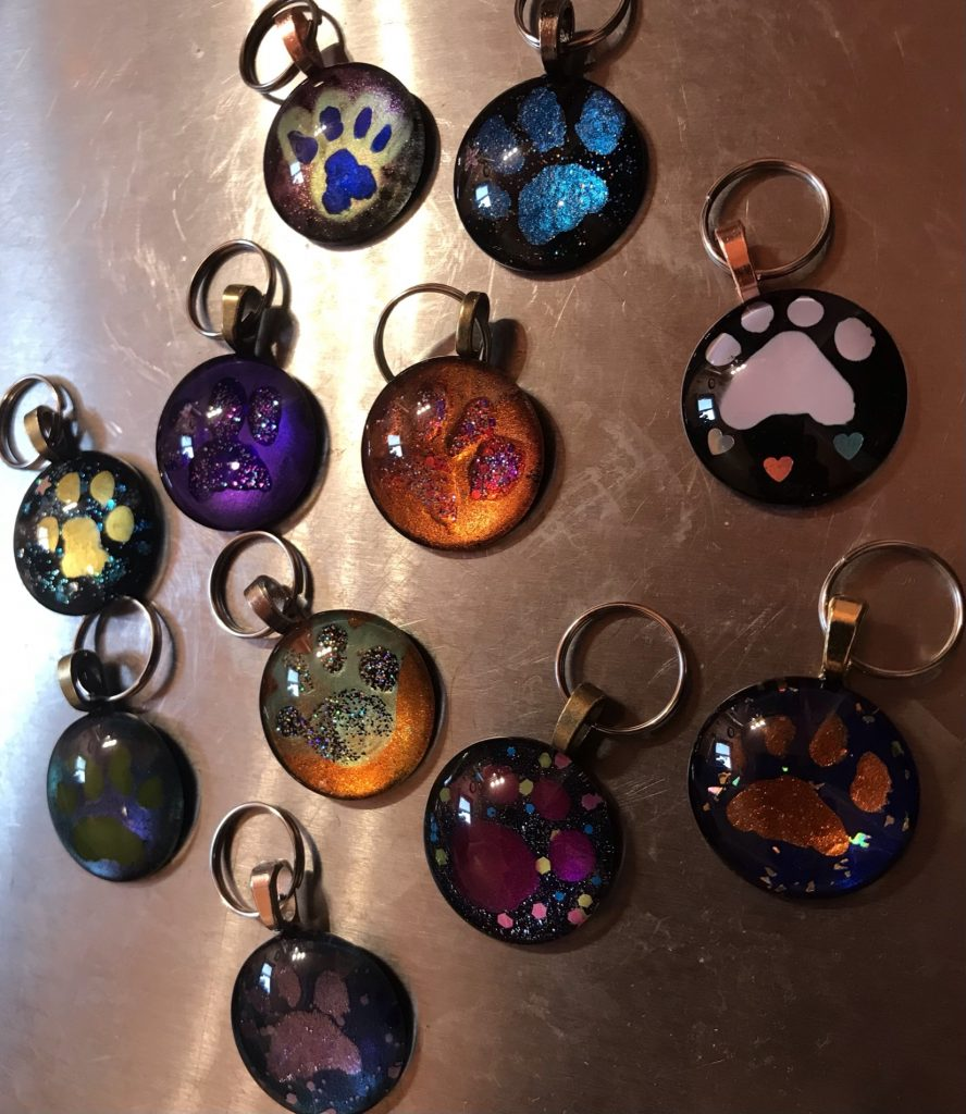 Painted Glass Stones